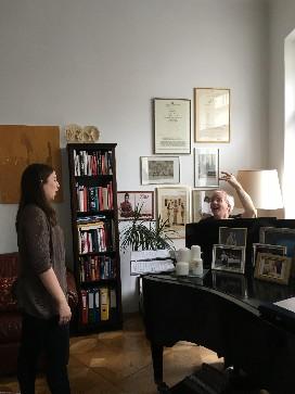 Naomi Brigell with German vocal coach, Werner Lemberg.