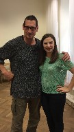 Naomi Brigell with European Stage Director, Peter Pawlik.