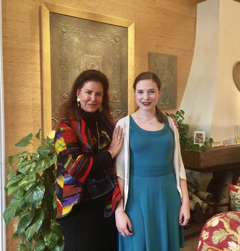 Naomi Brigell with operatic dramatic soprano and voice teacher, Carol Byers.